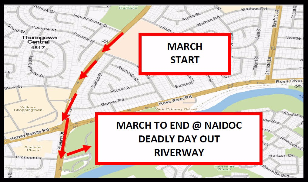 naidoc march map 2017